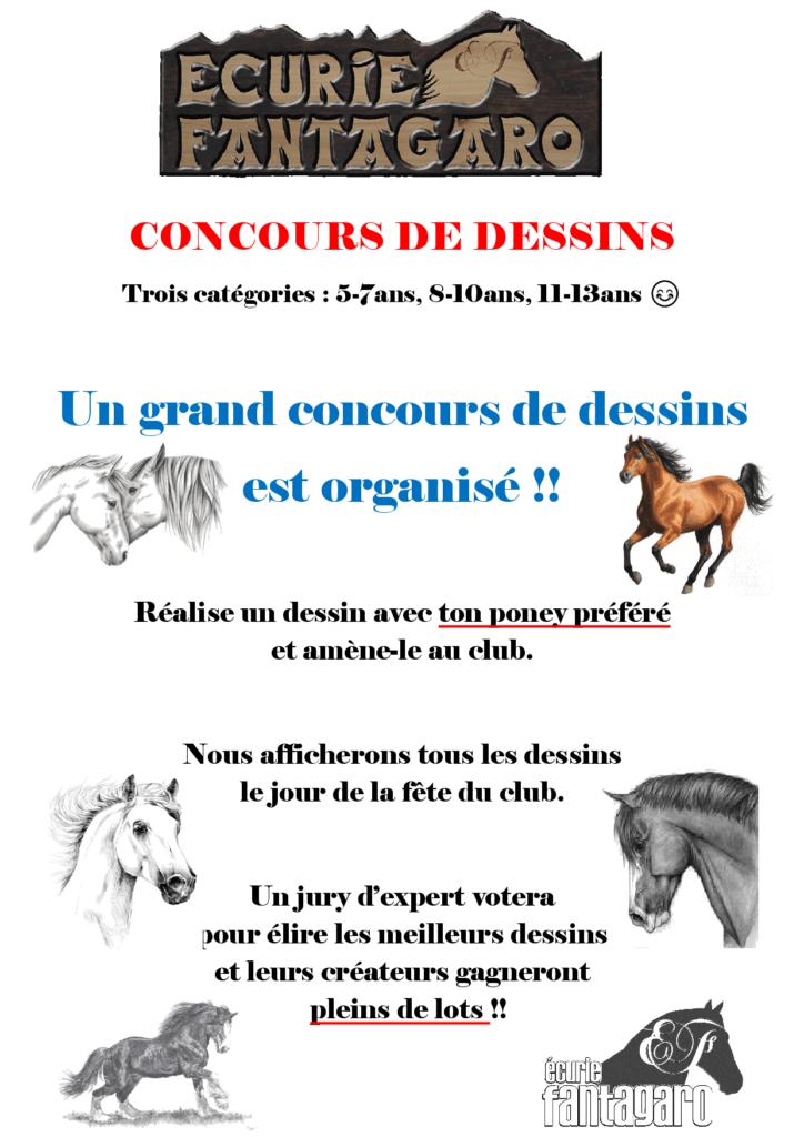 Affiche concours dessins fete du club 2019