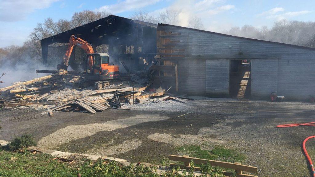 Incendie écurie Fantagaro Janvier 2020