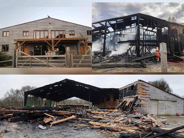 incendie ecurie fantagaro janvier 2020 - Bienvenue sur le site des Écuries Fantagaro, École Équitation, Spectacles Équestre,</br>Centre Équestre, 64210 Ahetze, Juillet 2020 -  -  -