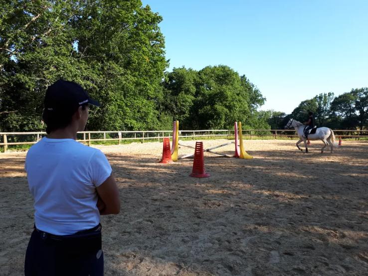 Les élèves ont repris le chemin des entraînements sous la houlette de Stéphanie © Radio France Andde Irosbehere - Bienvenue sur le site des Écuries Fantagaro, École Équitation, Spectacles Équestre,</br>Centre Équestre, 64210 Ahetze, Juillet 2020 -  -  -