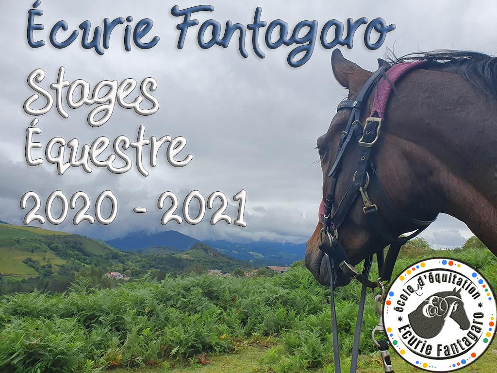 Stages Equestre Club Equitation Ahetze Ecurie Fantagaro 2020 2021